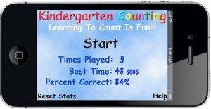 Kindergarten Counting Home Screen