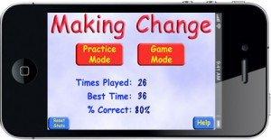 Making Change Home Screen