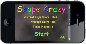 Shape Crazy Home Screen
