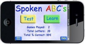 Spoken ABC Home Screen