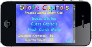 State Capitals Home Screen