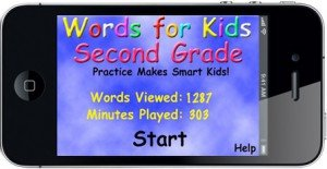 Words For 2nd Grade Home Screen